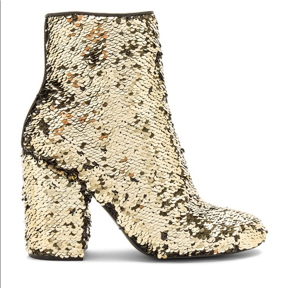 Nwot Georgia Gold Sequin Ankle Boots
